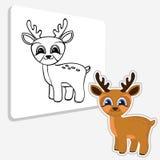 Página del colorante de los ciervos del Ute Imágenes de archivo libres de regalías