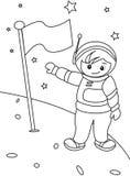 Página del colorante del astronauta Fotografía de archivo libre de regalías