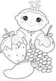 Página del colorante del bebé Foto de archivo libre de regalías