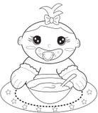 Página del colorante del bebé Imagen de archivo libre de regalías