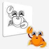 Página del colorante del cangrejo libro para la diversión de los niños s Foto de archivo libre de regalías