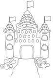 Página del colorante del castillo Imagen de archivo