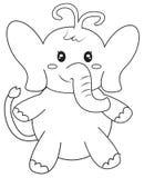 Página del colorante del elefante Fotos de archivo