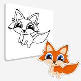 Página del colorante del Fox del bebé Fotografía de archivo