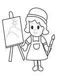 Página del colorante del niño Fotografía de archivo libre de regalías