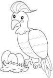 Página del colorante del pájaro Imagen de archivo