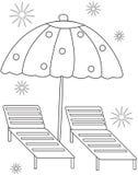 Página del colorante del paraguas Fotografía de archivo libre de regalías