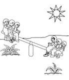 Página del colorante del patio stock de ilustración