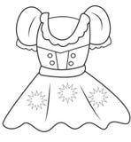 Página del colorante del vestido Imagenes de archivo
