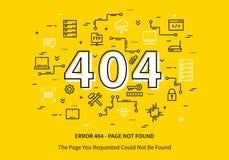 Página del error 404 con el datacenter Foto de archivo libre de regalías