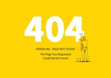 Página del error 404 con un ejemplo del vector del pintor Imagen de archivo libre de regalías