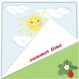 Página del fondo del verano stock de ilustración