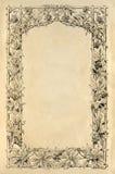 Página del libro antiguo con la decoración del grabado