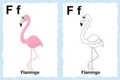 Página del libro de colorear del alfabeto con clip art del esquema al color ilustración del vector