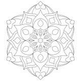Página del libro de colorear del círculo de la mandala/de Zentangle para los adultos - tatúe el bosquejo Fotos de archivo