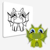 Página del libro de colorear Dragón Imagen de archivo libre de regalías