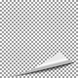 Página del papel de la cáscara del rizo Página de la revista del tirón, vector de la esquina de papel de la vuelta libre illustration