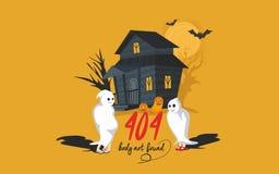 Página Dia das Bruxas de 404 erros Foto de Stock