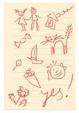 Página do caderno Imagem de Stock Royalty Free