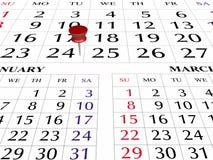 Página do calendário 2009 Foto de Stock Royalty Free