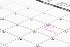 A página do calendário focalizou em 15 Imagens de Stock Royalty Free