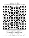 Página do enigma com jogo de palavras do codebreaker Imagem de Stock