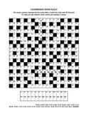 Página do enigma com jogo de palavras ou palavras cruzadas do codebreaker Foto de Stock Royalty Free