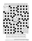 Página do enigma com jogo de palavras temático do codebreaker do outono Fotos de Stock