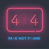 Página do erro 404 não encontrada Fotografia de Stock Royalty Free