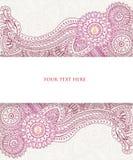 Página do Henna Imagens de Stock Royalty Free