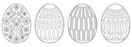 Página do livro para colorir dos ovos da páscoa Foto de Stock