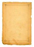 Página do livro velho no branco Fotos de Stock Royalty Free