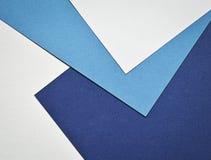 Página do papel de fundo com cores azuis e brancas Imagem de Stock