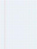 Página do papel do livro de exercício com linhas Foto de Stock Royalty Free