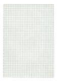 Página do papel esquadrado do tamanho de XXL Imagens de Stock