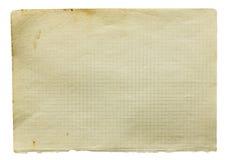Página do papel esquadrado velho Fotos de Stock Royalty Free