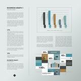 Página do texto da amostra Gráfico da informação Imagens de Stock Royalty Free