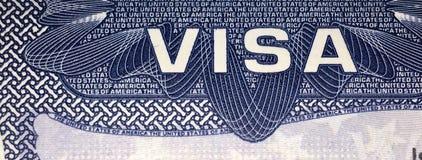 Página do visto do Estados Unidos da América foto de stock