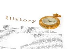 Página e relógio do livro Fotos de Stock Royalty Free