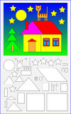 Página educacional para jovens crianças Imagem de Stock