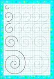 Página educativa para los niños en un papel cuadrado ilustración del vector