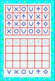 Página educativa para los niños en un papel cuadrado Necesite dibujar las figuras en lugares correctos Habilidades que se convier Imagenes de archivo