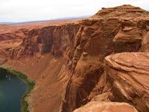 Página em ferradura o Arizona da curvatura imagens de stock royalty free