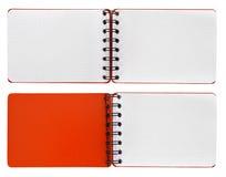 Página em uma espiral - bloco de notas encadernado Imagens de Stock