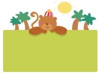 Página engraçada do macaco Foto de Stock Royalty Free
