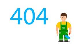 Página 404 Error del web oops o página no encontrada stock de ilustración