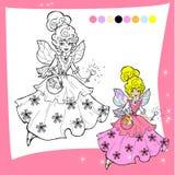 Página feericamente da coloração dos desenhos animados Foto de Stock Royalty Free