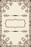 Página fina barroca Imágenes de archivo libres de regalías