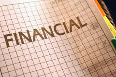 Página financeira no Filofax fotos de stock royalty free