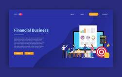 Página financiera de la página web del diseño de la campaña de la página del aterrizaje del concepto del negocio - ejemplo d ilustración del vector